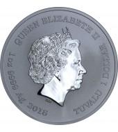 Срібна монета 1oz Тор 1 долар 2018 Тувалу