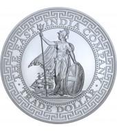 Серебряная монета 1oz Торговый доллар Британии 1 фунт стерлингов 2018 Остров Святой Елены