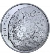 Серебряная монета 1oz Черепаха Таку 2 доллара 2013 Фиджи