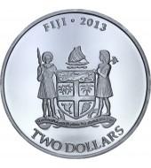 Срібна монета 1oz Черепаха Таку 2 долара 2013 Фіджі
