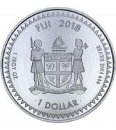 Срібна монета 1oz Тихоокеанський Долар 1 долар 2018 Фіджі