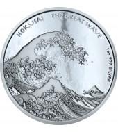 Срібна монета 1oz Хокусай Велика Хвиля 1 долар 2017 Фіджі