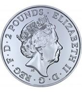 Срібна монета 1oz Рік Мавпи 2 фунта стерлінгів 2016 Великобританія