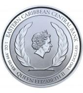 Срібна монета 1oz Монтсеррат 2 долара 2019 Східні Кариби