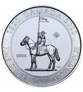 Серебряная монета 2oz 100-летие Конной Полиции 10 долларов 2020 Канада