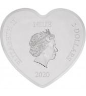 Серебряная монета 1oz Поцелуй Настоящей Любви Дисней 2 доллара 2020 НИУЭ (цветная)