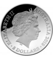 Срібна монета 1oz 1812 Нова Карта Світу 5 доларів 2019 Австралія