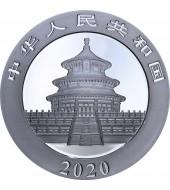 Серебряная монета 30g Китайская Панда 10 юань 2020 Китай