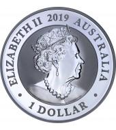 Серебряная монета 1oz Райская Птица 1 доллар 2019 Австралия