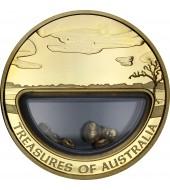 Золотая монета 1oz Сокровища Австралии 100 долларов 2010 Австралия