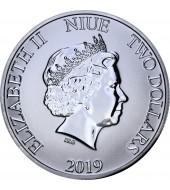 Срібна монета 1oz Міккі Маус Фантазія 2 долара 2019 Ніуе