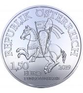 Серебряная монета 1oz Робин Гуд 1,5 евро 2019 Австрия