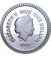 Срібна монета 1/4oz Афінська Сова 1 долар 2018 Ніуе