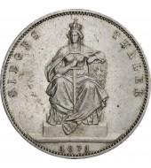 """Срібна монета """"Перемога у Франко-пруській війні"""" 1 переможний талер 1871 Прусія"""