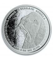 Срібна монета 1oz Сільвербек Горила 5000 франків КФА 2020 Конго