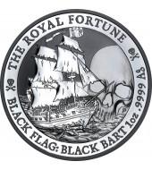 Серебряная монета 1oz Пиратский корабль «Королевская Удача» 1 доллар 2020 Тувалу