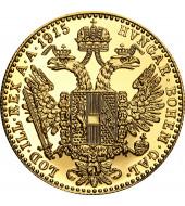 Золотая монета 1 Дукат 1915 Австрия рестрайк