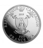 Серебряная монета Свадебное путешествие 500 франков 2019 Камерун (цветная)