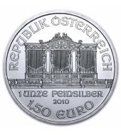 Срібна монета 1oz Віденська Філармонія 1,5 Євро 2010 Австрія