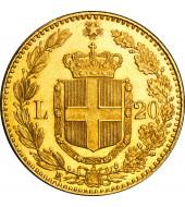 Золота монета Умберто I 20 лір 1882 Італія