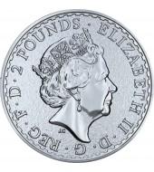 Серебряная монета FABULOUS 15 (F15) Британия 2 английских фунта 2017 Великобритания